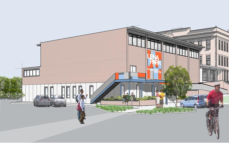 Lena Park Community Center Rendering | Photo credit: Boehm Architecture
