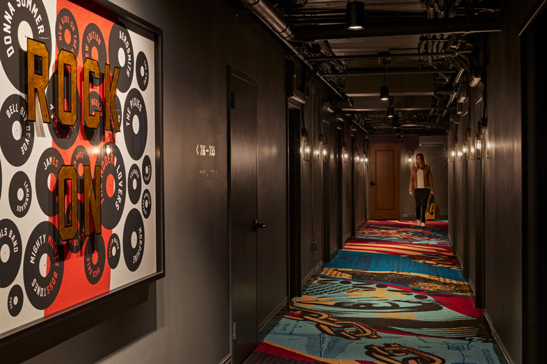 Revolution Hotel Corridor