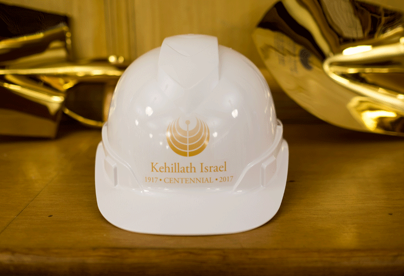 Congregation KI Groundbreaking Hardhats